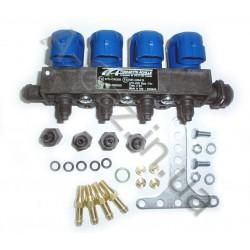 Газовые форсунки Tomasetto IT01 PLUS 4 цилиндра 2 Ом (IRAT1004)